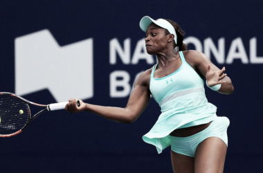 Stephens, durante un partido. Foto: WTA
