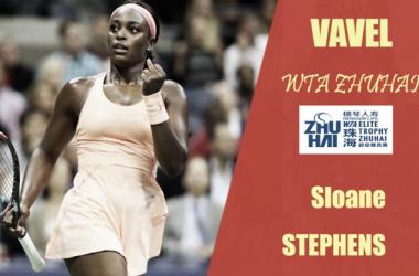 WTA Elite Trophy Zhuhai. Sloane Stephens: seguir haciendo historia