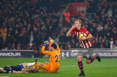 James Ward-Prowse celebrates his goal. | Source: Steve Bardens / getty