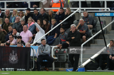 <div>Newcastle United manager Steve Bruce during the Premier League match between Newcastle United and Leeds United at St. James's Park, Newcastle on Friday 17th September 2021. (Photo by Mark Fletcher/MI News/NurPhoto via Getty Images)</div>