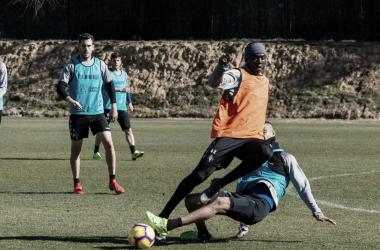 Stiven Plaza en un entrenamiento | Real Valladolid