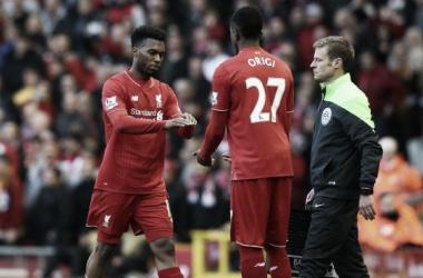 Divock Origi replacing Daniel Sturridge. (Picture: Liverpool Echo)