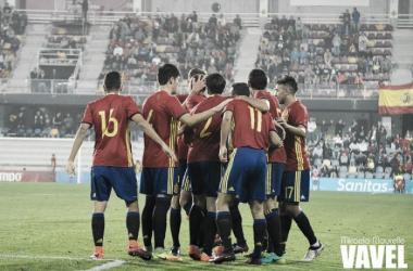 La selección Sub-21 de Celades. Fuente: Micaela Mourelle - VAVEL