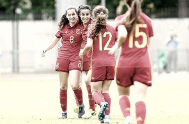 La Selección Española sub-17 femenina en su partido contra Polonia (sefutbol.com)