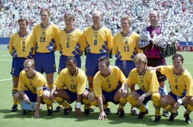 Alineación inicial de Suecia en el 1994 | Foto:PDA