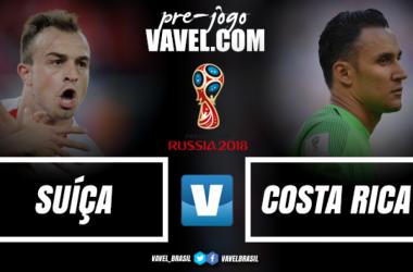 Suíça entra em campo buscando assegurar vaga às oitavas contra eliminada Costa Rica