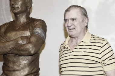 Suñé el día de la inauguración de su estatua (Foto: Clarín)