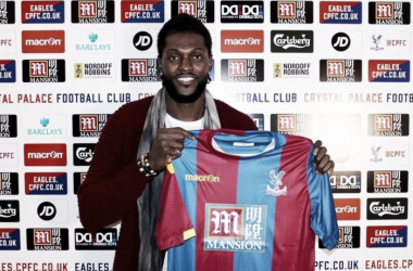 Adebayor joined the Eagles on a free until the end of the season | Photo: Crystal Palace FC
