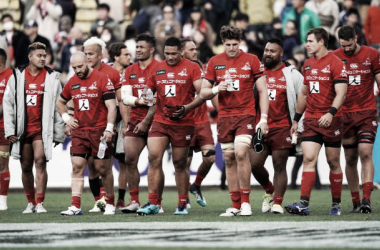 Los Lobos del Sol, tal como serían llamados en español, quedaron fuera de juego por no poder seguir siendo financiados por la Unión de Rugby de Japón (JRFU, por sus siglas en inglés) y por no ser redituable para SANZAAR. Crédito: Stuff.
