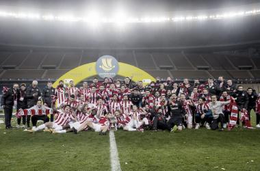 En la celebración de la Supercopa participaron ex-jugadores como Aduriz / / Foto: Athletic Club