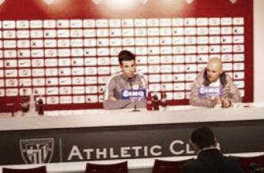 Suaseta, en rueda de prensa. Imagen: @AthleticClub