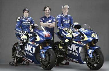 Viñales, Brivio y Espargaró, con sus nuevas motos(Foto: Suzuki)