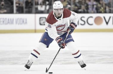 Nick Suzuki, el gran protagonista del partido | Foto: Jeff Bottari/NHLI via Getty Images