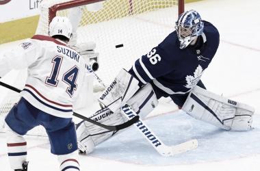 Los Canadiens se mantienen vivos al ganar en OT a Toronto