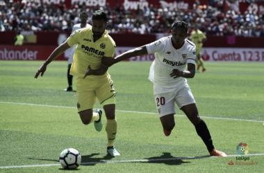 Luis Muriel in azione contro il Villarreal