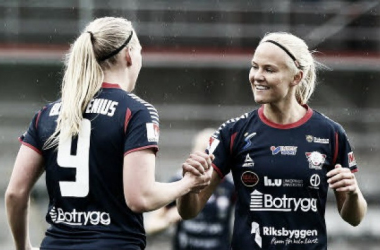 Linköping's Pernille Harder and Stina Blackstenius have scored a total of 29 goals this season