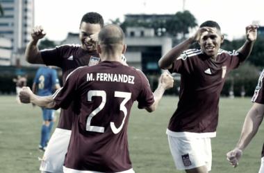 Carabobo Fútbol Club vapuleó 4-1 a Monagas Sport Club y se aseguró la clasificación a la Liguilla del Torneo Clausura 2017. (Fotografía: Carabobo fc)