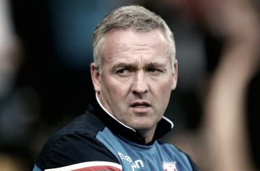 Paul Lambert durante el partido ante Swansea | Fotografía: Stoke City