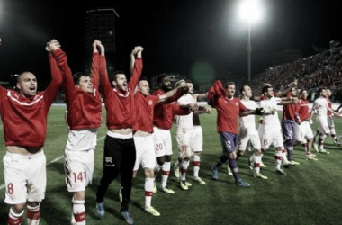 Switzerland celebrating their qualification to this year's tournament. Photo credit: uefa.com
