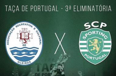 Taça de Portugal: Sporting vence Oleiros e segue em frente