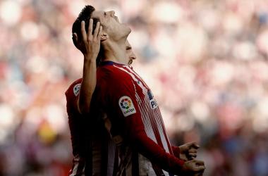 Morata celebró su primer gol con rabia    FOTO: Club Atlético de Madrid.
