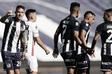 Carlos Auzqui marcó el gol para Talleres. Foto:tycsports