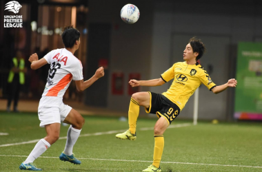 Ryutaro Megumi in action for Tampines (Picture credit: Football Association of SIngapore)