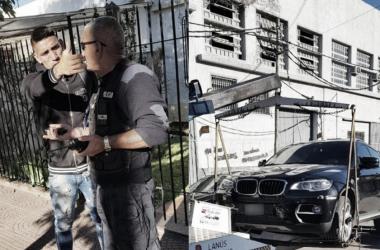 Centurión discute con un oficial mientras se llevan el auto en el que manejaba.