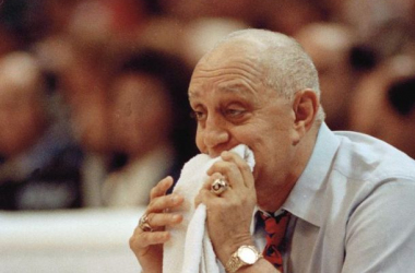 College basketball has lost its second legend is just 5 days with the passing of Hall of Fame coach Jerry Tarkanian. (Ed Reinke/AP)