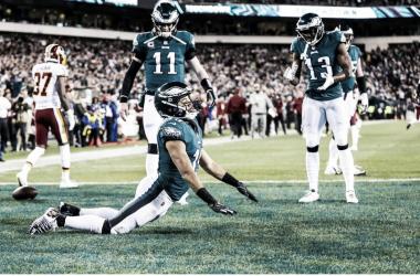 Golden Tate festejando su primer touchdown con los Eagles (foto: www.philadelphiaeagles.com)