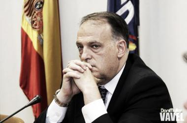 Javier Tebas, presidente de LaLiga | Foto: Dani Mullor (VAVEL)