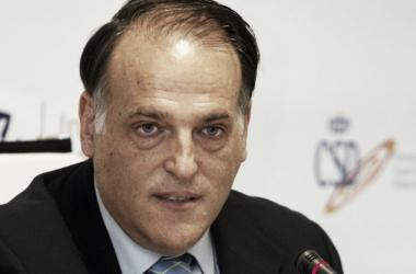 En la imagen, el presidente de LaLiga española, Javier Tebas / Fuente: LaLiga