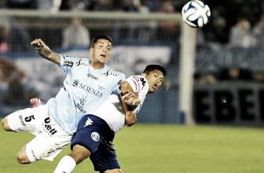 Adrián Arregui frente a Independiente Rivadavia. Foto: Vavel.