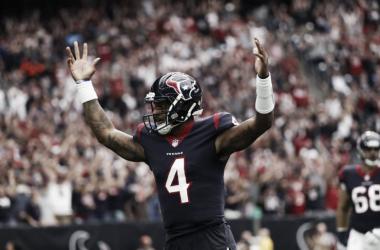 Watson celebrando un touchdown convertido la pasada temporada. Foto: Houston Texans