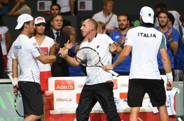 Davis Cup - Italia avanti, Fognini e Bolelli si impongono sul Giappone in doppio