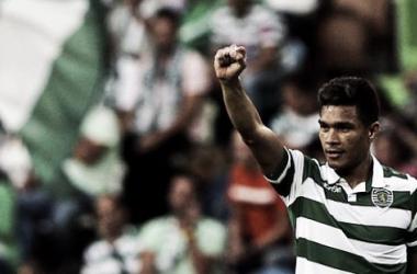 El colombiano acumula dos goles en el Sporting de Lisboa.  Foto: EFE