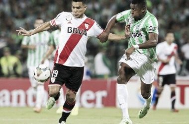 Teo Gutiérrez en la final de la Sudamericana 2014 (Foto: Web).