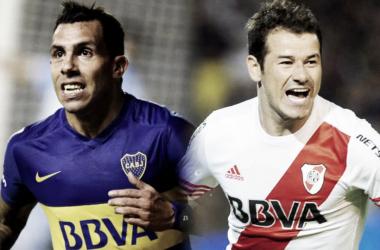 Duelo de goleadores: Carlos Tevez vs Rodrigo Mora. Foto: Olé