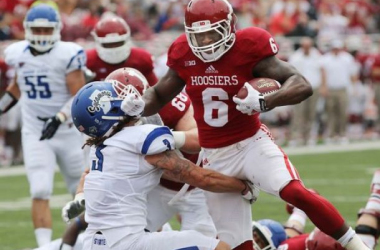 Tevin Coleman had a massive game rushing with 247 yards on the ground (Rob Goebel / The Star)