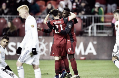 Toronto FC found the winning touch against Real Salt Lake | Source: Frank Gunn-Canadian Press