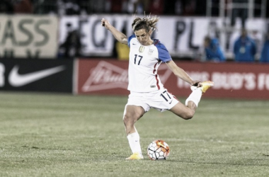 Tobin Heath will miss another batch of friendlies for the USWNT due to injury | Source: ussoccer.com