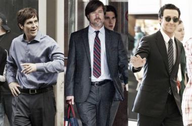 Christian Bale, Brad Pitt y Ryan Gosling protagonizan 'The Big Short'. Montaje: Cine VAVEL.