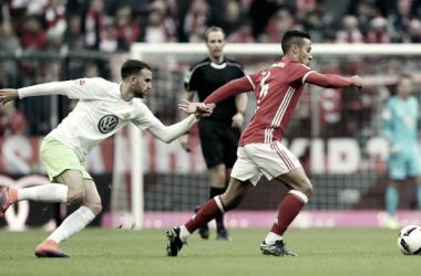 Thiago cumplió su partido 100 el pasada fin de semana frente al Wolfsburgo / FOTO: fcbayern.com