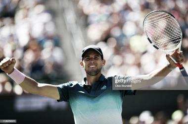 Thiem celebra la victoria. Foto: Getty Images.