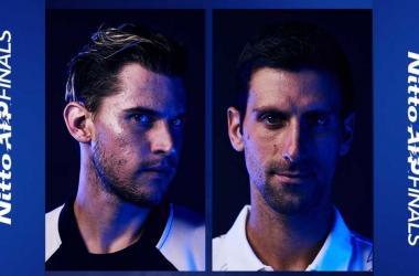 Thiem elimina Djokovic e vai à decisão do ATP Finals (2-1)