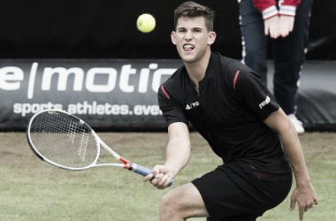 Dominic Thiem backed up his top 10 ranking with a victory against Sam Groth