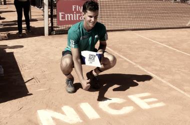 Thiem posa con su título de campeón en Niza 2016. Foto: ATP World Tour