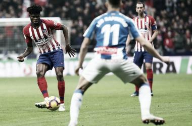 """Thomas, """"infeliz"""" con la falta de minutos. Foto: Atlético de Madrid"""