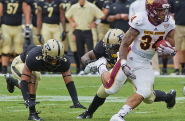 Thomas Rawls had a second 100 yard performance in as many games to lead Central Michigan past Purdue (Michael Heinz / AP Photo/Journal & Courier)