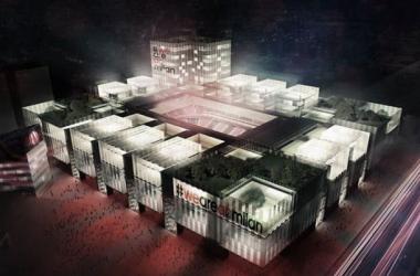 A nova casa futurista do AC Milan, cuja conclusão se prevê para 2018/2019 (Imagem: AC Milan)
